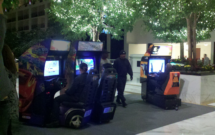 arcade game party rental in hotel